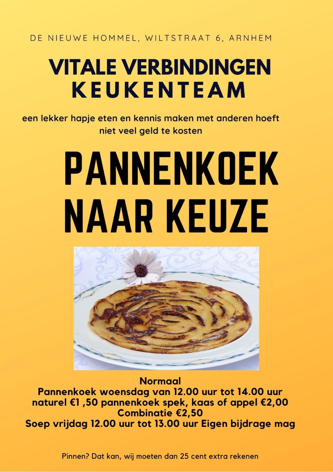 Inloop met Pannenkoeken @ De Nieuwe Hommel | Arnhem | Gelderland | Nederland