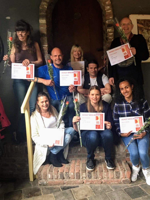 Deelnemers met het HOP certificaat