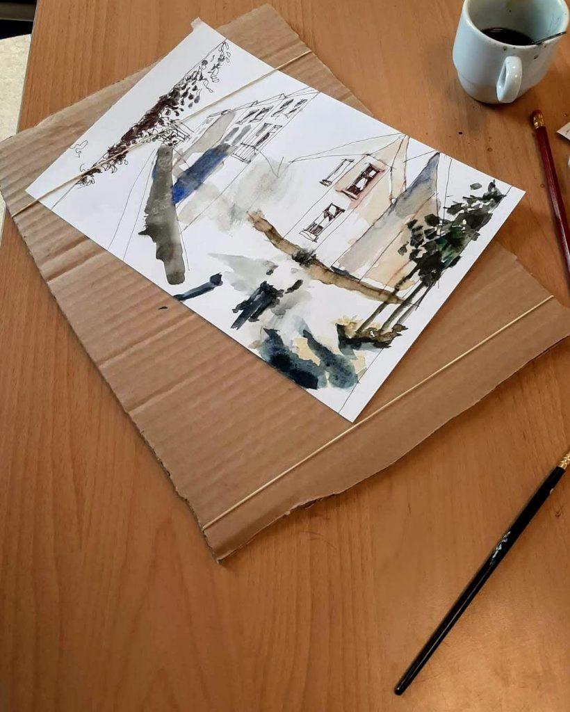 Voorbeeld van Urban Sketching