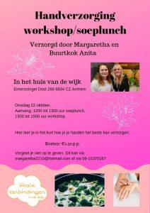 Handverzorging workshop/soeplunch @ Huis voor de Wijk