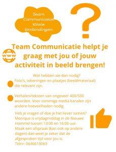 Communicatie Inloop @ De Nieuwe Hommel