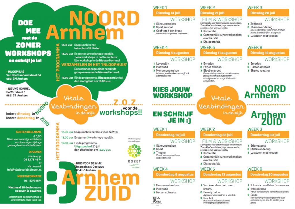 Programma Verbindende Zomeractiviteiten 2020 Vitale Verbindingen