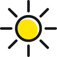 Hitte door de zon