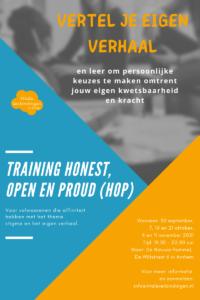 Training Honest, Open en Proud (HOP) - VOL @ De Nieuwe Hommel